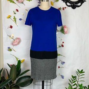 Vince Camuto royal blue color block knit dress